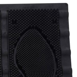 Wycieraczka CZYSZCZARKA do butów mata wejściowa ze szczotkami 60x40 cm