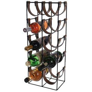 Stojak metalowy czarny WINO regał szafka półka na butelki wina - 10 butelek