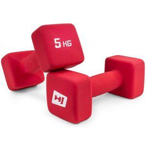 Hop-Sport Zestaw hantelek neoprenowych kwadratowych 2x5kg