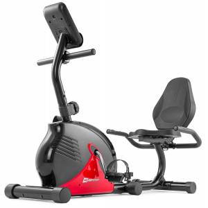 Hop-Sport Rower leżący magnetyczny HS-030L Rapid Czerwony