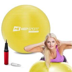 Hop-Sport Piłka fitness 45cm z pompką - żółta