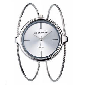 GeekThink Subtelny zegarek Geekthink - srebrny