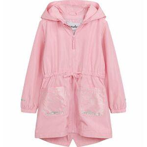 Endo Przejściowa kurtka parka, z cekinami w kieszeniach, różowa, 9-13 lat