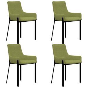 Vidaxl krzesła stołowe, 4 szt., zielone, tapicerowane tkaniną Krzesła, fotele i inne siedziska Krzesła do kuchni i jadalni