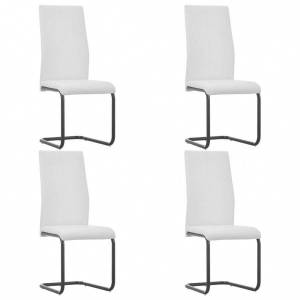 Vidaxl krzesła jadalniane, 4 szt., białe, sztuczna skóra Krzesła, fotele i inne siedziska Krzesła do kuchni i jadalni