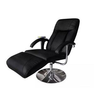 Vidaxl fotel masujący, czarny, sztuczna skóra Krzesła, fotele i inne siedziska Fotele masujące