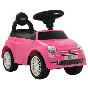 Vidaxl samochód jeździk fiat 500, różowy Zabawki Pojazdy do popychania i z pedałami