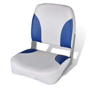 Vidaxl składany fotel na łódź, biało-niebieski z poduszką, 56x43x48 cm Akcesoria i części do pojazdów Części do łodzi żaglowych