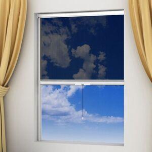 Vidaxl moskitiera zwijana na okna 120 x 170 cm, biała Dekoracje Ekrany okienne