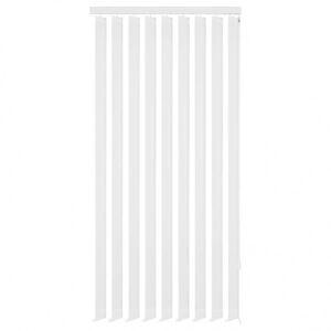 Vidaxl Żaluzje pionowe z białego materiału 150x250 cm Dekoracje Rolety i żaluzje