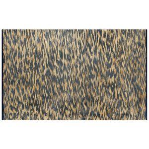 Vidaxl ręcznie wykonany dywan, juta, niebieski i naturalny, 160x230 cm Podnoszenie materiałów Podnoszenie materiałów