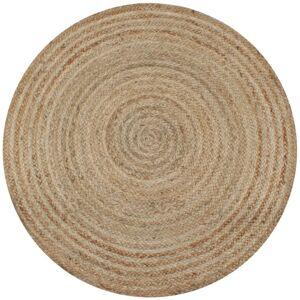 Vidaxl dywan pleciony z juty, 120 cm, okrągły Dekoracje Dywaniki