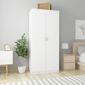 Vidaxl szafa, biała, 90 x 52 x 200 cm, płyta wiórowa Szafy, szafki, stojaki i schowki Szafy i garderoby