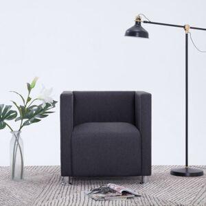 Vidaxl fotel kubik, ciemnoszary, tkanina Krzesła, fotele i inne siedziska Fotele