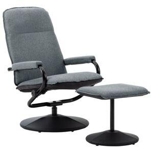 Vidaxl rozkładany fotel z podnóżkiem, jasnoszara tkanina Krzesła, fotele i inne siedziska Fotele