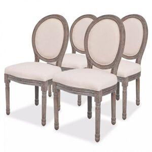 Vidaxl krzesła stołowe, 4 szt., kremowe, tkanina Krzesła, fotele i inne siedziska Krzesła do kuchni i jadalni