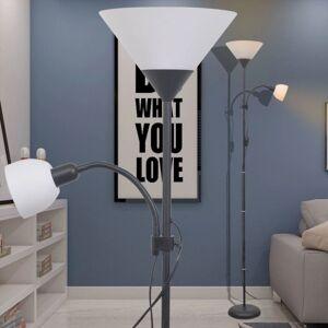 Vidaxl lampa podłogowa czarna Podnóżki i pufy Podnóżki i pufy