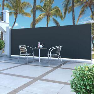 Vidaxl zwijana markiza boczna, 160 x 500 cm, czarna Trawnik i ogród Parasole i żagle ogrodowe