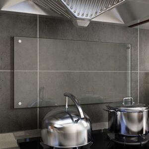 Vidaxl panel ochronny do kuchni, przezroczysty, 80x40 cm, szkło