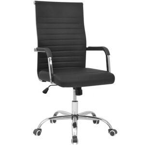 Vidaxl krzesło biurowe, sztuczna skóra, 55 x 63 cm, czarne Meble biurowe Krzesła i fotele biurowe