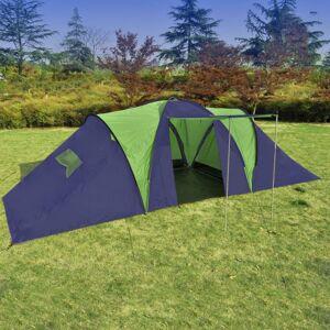Vidaxl namiot turystyczny 9-osobowy, niebiesko-zielony Akcesoria hydrauliczne Deski sedesowe i bidetowe