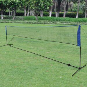 Vidaxl siatka i lotki do badmintona, 600x155 cm Rekreacja na świeżym powietrzu Akcesoria do rowerów