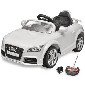 Vidaxl audi tt rs samochód dla dzieci z pilotem biały Trawnik i ogród Markizy i zadaszenia nad drzwi