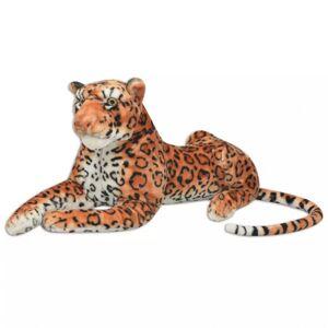 Vidaxl pluszowy leopard xxl brązowy Meble ogrodowe Zestawy mebli ogrodowych