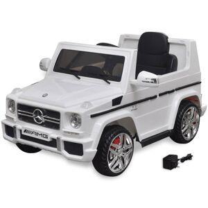 Vidaxl autko elektryczne biały mercedes benz g65 suv 2 silniki, biały Zabawki Pojazdy elektryczne