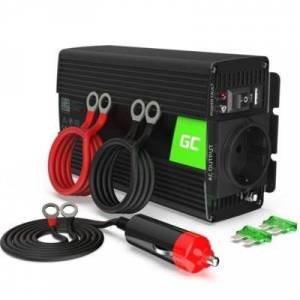 Green Cell Przetwornica 24V/230V 300W/600W Mod sinus