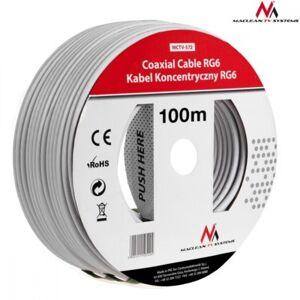 Maclean Kabel przewód koncentryczny satelitarny 1.0CCS RG6 100M MCTV-572