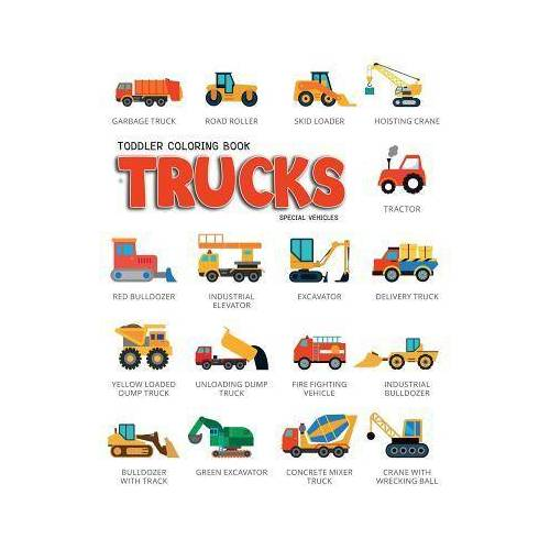 Lynn Knecht Toddler Coloring Book Trucks by Lynn Knecht