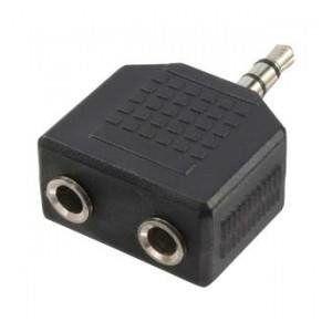 Adapter audio stereo LogiLink CA1002 3,5mm jack (M)  2x 3,5mm jack (F)