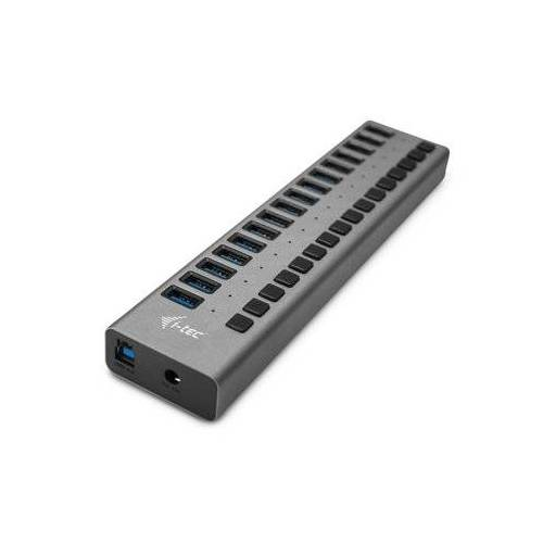 i-tec Hub USB3.0 z ładowaniem, 16 portów, 90W