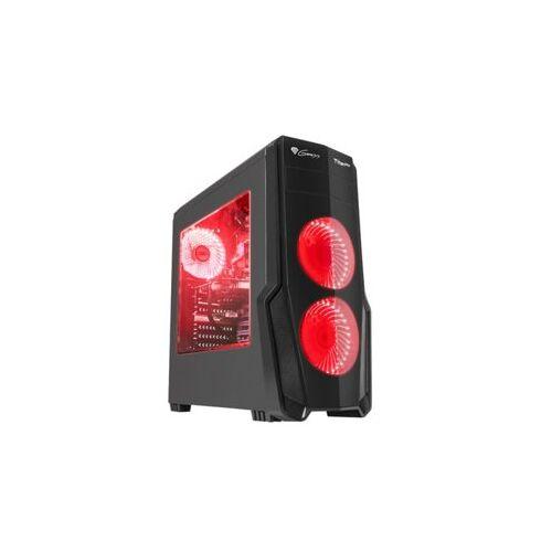 NATEC Obudowa Genesis Titan 800 USB 3.0 z oknem czerwone podświetlenie
