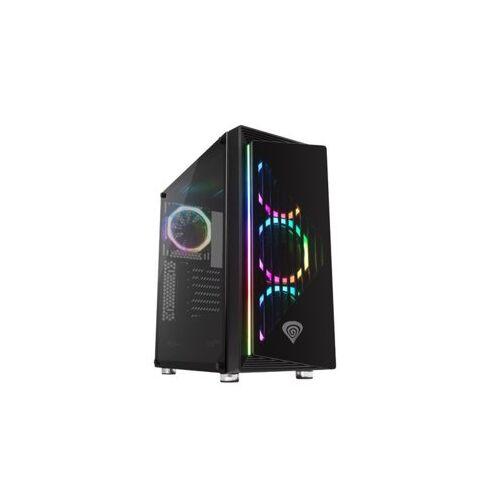 NATEC Obudowa Genesis Irid 400 3.0 z oknem, podświetlenie RGB