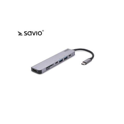 Elmak Wielofunkcyjny HUB USB Typ C 7w1 SAVIO AK-47