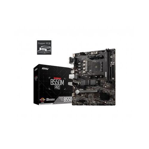 MSI Płyta główna B550M PRO AM4 4DDR4 HDMI/DP/VGA mATX