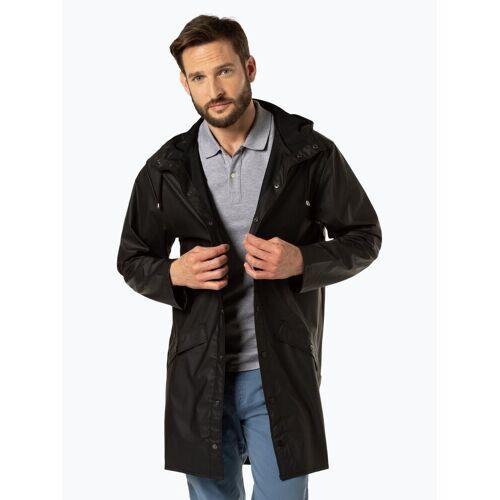 RAINS - Męski płaszcz funkcyjny, czarny