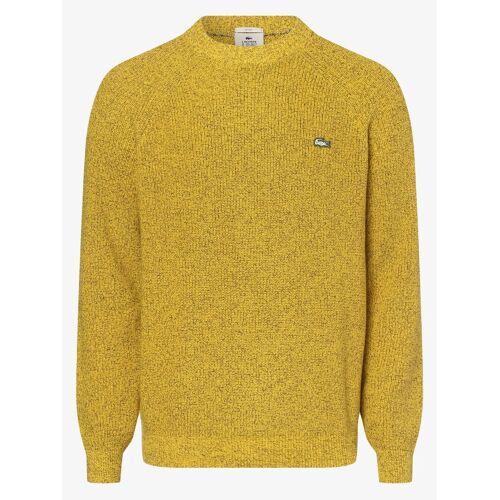 Lacoste - sweter z grubo tkanej dzianiny, żółty