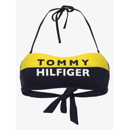 Tommy Hilfiger - Damski góra od bikini, żółty