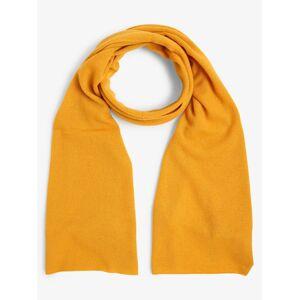 Marie Lund - Damski szalik z czystego kaszmiru, żółty