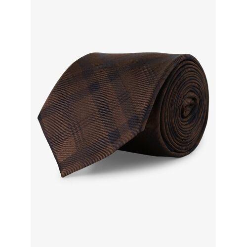 Mc Earl - Krawat jedwabny męski, brązowy