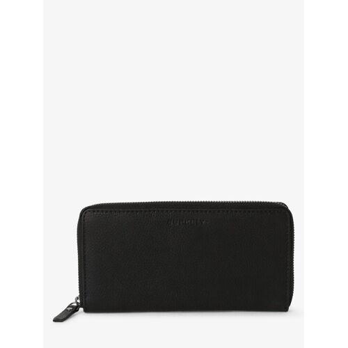 BURKELY - Damski portfel ze skóry, czarny