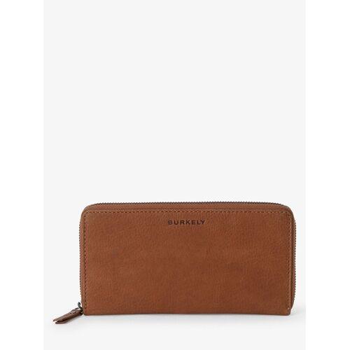BURKELY - Damski portfel ze skóry, beżowy