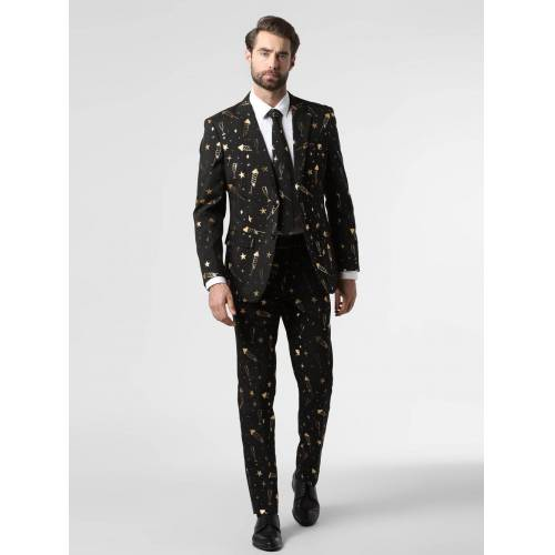 OppoSuits - Garnitur męski z krawatem, czarny