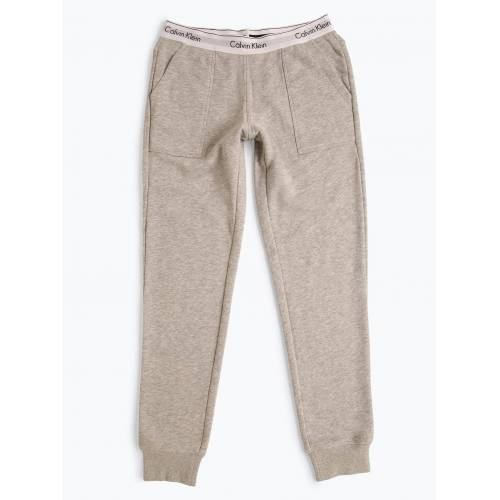 Calvin Klein - Damskie spodnie dresowe, szary
