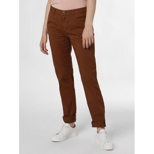 MAC - Spodnie damskie – Chino, brązowy