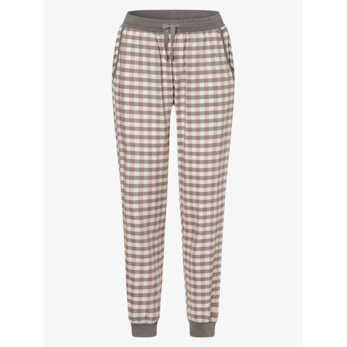 Marie Lund - Damskie spodnie od piżamy, beżowy