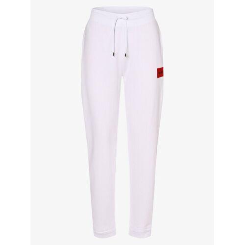 HUGO - Damskie spodnie dresowe, biały
